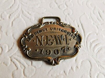 Rare! 1907 Vintage Lawrence University Fob - 'newi'  Appleton Wisconsin