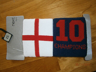 New Next Sports England Sweat Wristbands Age 3+ Red/wht/blu Excellent Bargain