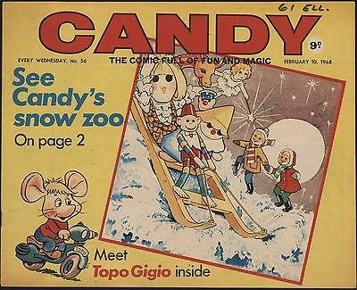 Candy #56 Rare Gerry Anderson Comic. Winnie The Pooh, Untouched Hi Grade!