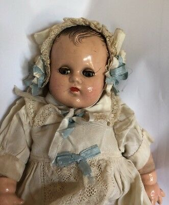 Old Composition Comp Madame Alexander Little Genius Baby Doll