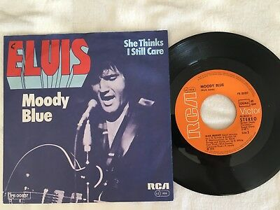 "Single Elvis Presley: ""Moody Blue"".  Sehr gut."