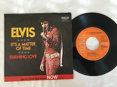 "Single Elvis Presley: ""Burning Love"".  Sehr gut."