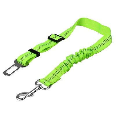 Anti Shock/Bungee Pet Dog Seat Belt Clip Car/Travel Safety Lead Harness - Green