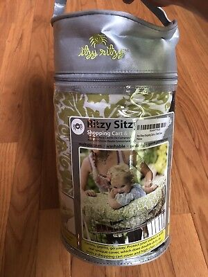 New Itzy Ritzy Sitzy Shopping Cart High Chair Cover Avocado Green Damask Floral
