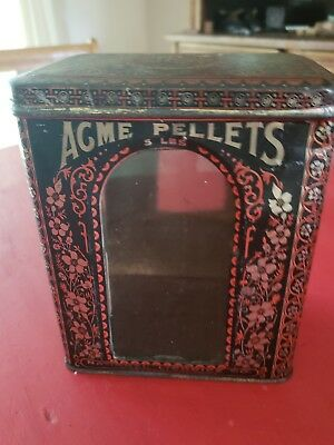 Antique VintageAcme 5 lb. Y & S   Pellet National Licorice Co. Country Store Tin