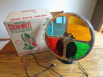 Vintage Gem #55  Rotating 4 Color Wheel For Lighting Up Aluminum Christmas Tree