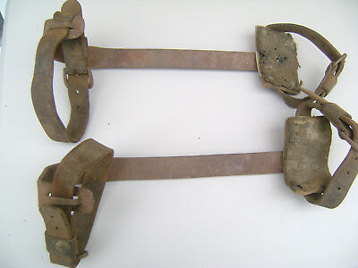 Pair of Vintage Klein & Sons Tree / Pole / Lineman Climbing Spikes +Straps