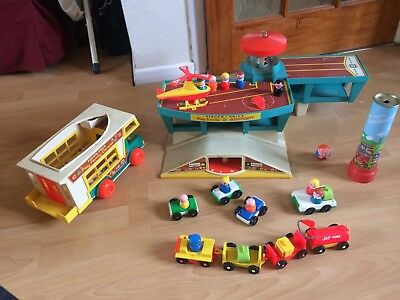 Vintage Fisher Price Dated 1972? A Play Family Camper and Play Family Airport NR