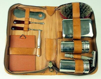 Vintage Gillette Travel Shaving and Grooming Kit