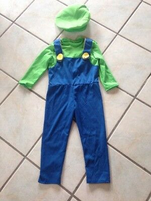 Super Mario Brothers Luigi Costume Halloween Size Small