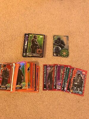 Topps Star Wars Cards Rouge One apx 25and Force Attack apx 60 cardsTrading Cards