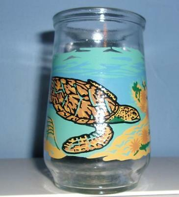 Welchs WWF Jelly Jar Glass Hawksbill Sea Turtle Endangered Species Collection 12