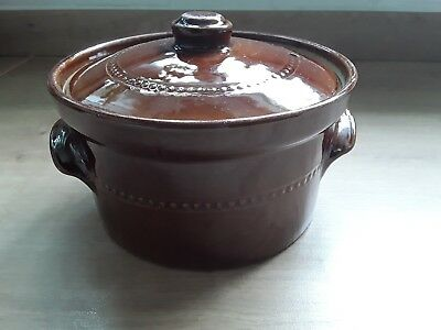 0ven to table stoneware 1960's Pearsons of chesterfield casserole pot & lid