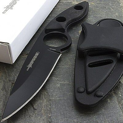 "7"" FULL TANG SURVIVAL BOOT KNIFE w/ NECK SHEATH Hunting Skinning Camping Combat"