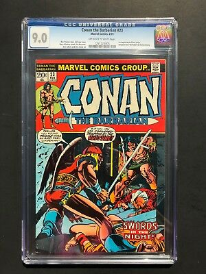 Conan the Barbarian #23 CGC 9.0 Off White to White pages. 1st app Red Sonja. BWS