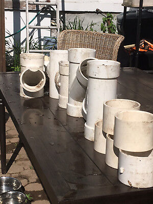 4 inch PVC pipe fitting 12 fittings all new never used
