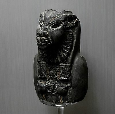 ANCIENT ANTIQUE Egyptian stone Bust of the Goddess Sakhmet (300-1500 BC