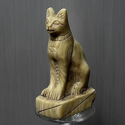 ANCIENT ANTIQUE Egyptian Beautiful stone statue of cat BASTET 1500–300 BC