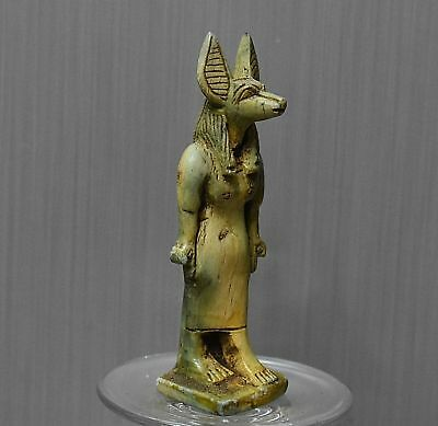 ANCIENT ANTIQUE Egyptian stone statue of ANUBIS (300-1500 BC