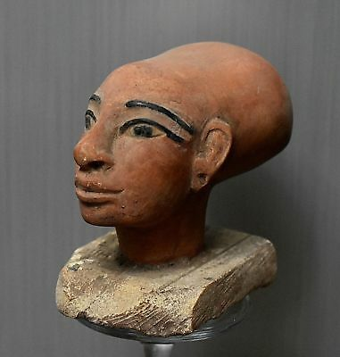 ANCIENT ANTIQUE Egyptian stone statue of Priest in Ancient Egypt (300-1500 BC