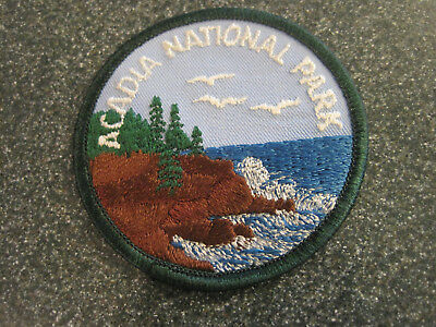 Vtg ACADIA National Park Patch Maine souvenir Detailed embroidery US travel NEW