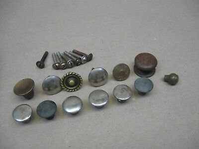 Vtg Lot 13 Knobs Phonograph Record Player Parts w/ Victor & Edison? Columbia?
