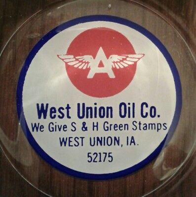 Rare FLYING A GASOLINE ASHTRAY FROM WEST UNION, IOWA