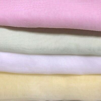 "Sew for dolls? 4 colors vintage cotton organdy fabric! 5+ yds total, 36"" wide"