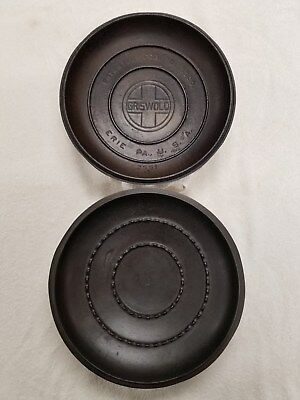 VINTAGE Cast Iron DUTCH OVEN LIDS #8 Griswold Tite-Top & one unmarked Lot of 2