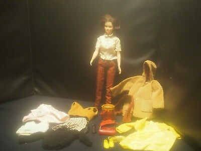 VINTAGE REMCO JUDY LITTLECHAP DOLL w/ CLOTHES & ACCESSORIES ~ EUC ~ 1960s
