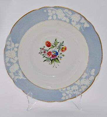 Early C19th SPODE Hand Painted Soup Bowl #2010 - 24.5cm - Floral Spray