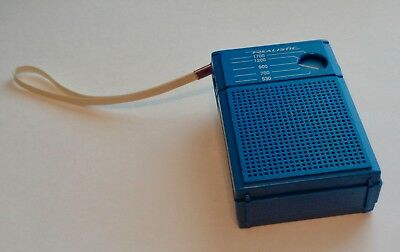 REALISTIC AM RADIO Model 12 202 Flavor Radio Blueberry 1980s No Cracks WORKS VTG
