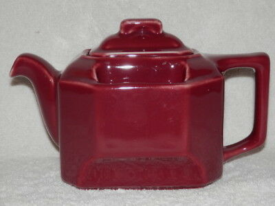 Hall Scarce Burgundy T Ball Saddle Bag Teapot 3273 Made For Bacharach Mint! Nr!