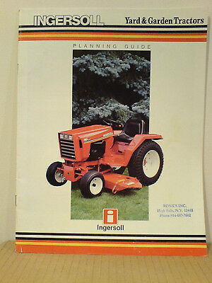 Case Ingersoll Tractor,  Lawn & Garden Equipment Sales Brochure 1986  F-1