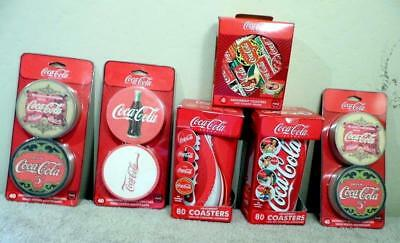 Assorted Coca-Cola Coke Advertising Coasters Lot Of Six