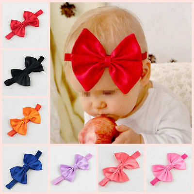 14X Baby Girl Infant Toddler Bow Headband Hairband Soft Elastic Hair Accessories
