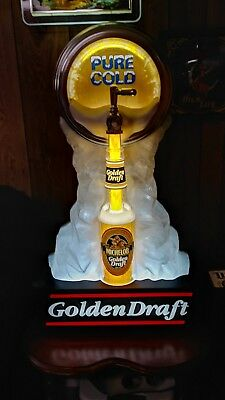 Michelob Golden Draft Lighted Motion Beer Sign