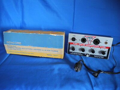Vintage Sencore Tm116 Tube Tester Modernizing Panel (Working)