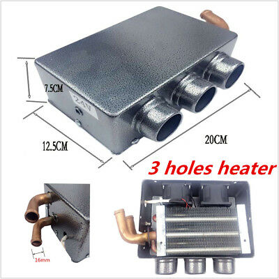 Universal Car Heating Cooling Compact Heater 3 Hole 80W Defroster Demister 12V
