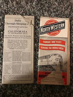 Chicago & NorthWestern System timetable Lot of 2