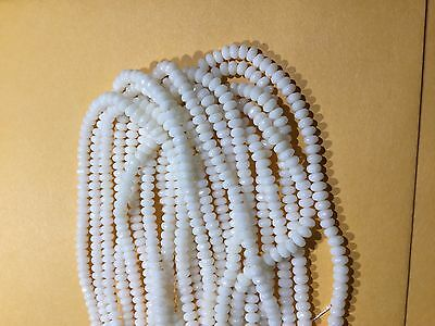 Natural Coral Rondell Beads High Polish Coral Beads 165 pcs. 4 mm Rondell Shape