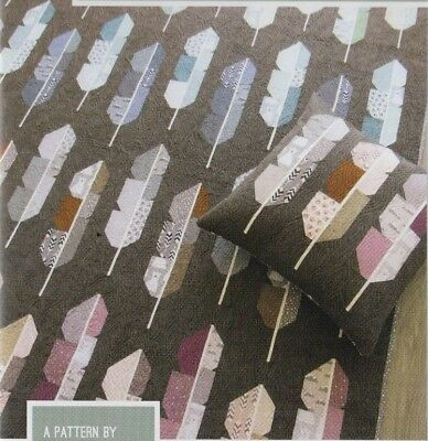 Arctic Feathers - fun modern pieced quilt PATTERN - 3 sizes - Elizabeth Hartman