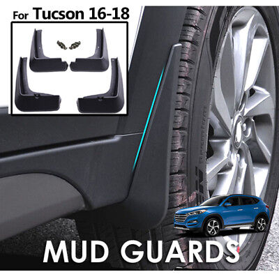 Mud Flaps Mudguards For Hyundai Tucson 2016-18 Front Rear Splash Guards Black