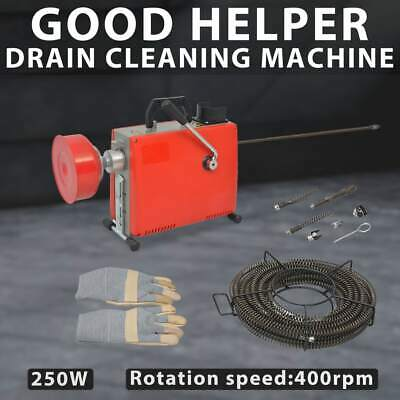 vidaXL Pipe Cleaning Machine 250 W 15mx16mm 4.5mx9.5mm Drain Cleaner Tool