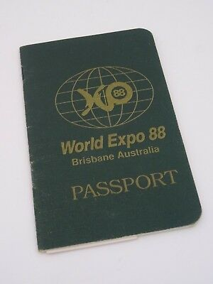 World Expo 88 Brisbane Australia Passport - Full with Stamps and Stickers