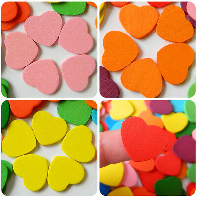 20PCS/Bag Wooden Heart  Beads DIY Accessories Jewelry Wood Beads Craft DIY HC