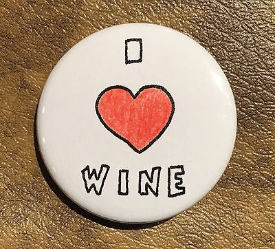Wine Pin Button Magnet Drink Friend Funny Homemade Art Gift Decor Accessory