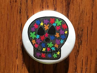 Skull Pin Button Magnet Skulls Flowers Skullcandy Skull Mask Colorful Skeleton