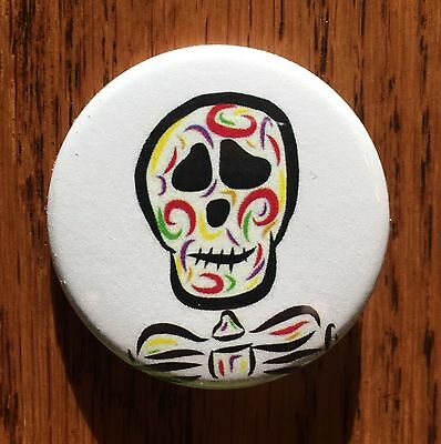 Skull Pin Button Magnet Skulls Biker Skullcandy Skull Mask Colorful Skeleton