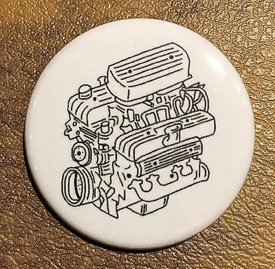 Nailhead Engine Buick 322 364 401 425 Pin Magnet Button